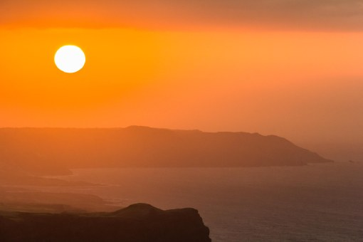 Sunset over cliffs_